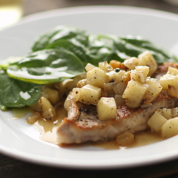 Boneless Pork Chops with Apple Chutney Video
