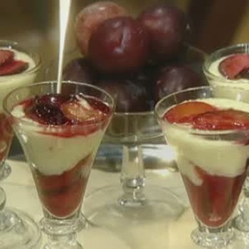 Tapioca Pudding With Glazed Plums Recipe