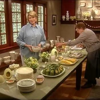 Martha Stewart Showcases an Easter Buffet