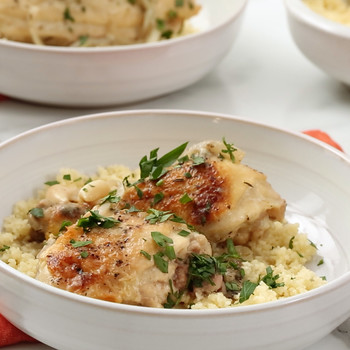 Watch: Slow-Cooker Garlic Chicken with Couscous