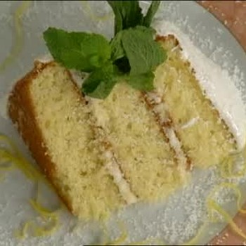 Fresh Coconut Cake with Lemon Cream Cheese