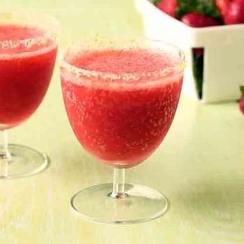 Frozen Strawberry Daiquiri with Lime Sugar