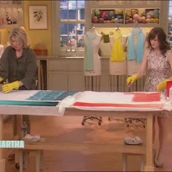 Making Ombre Scarves with Rosemarie DeWitt