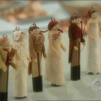 Vintage-Inspired Clothespin Doll Ornaments
