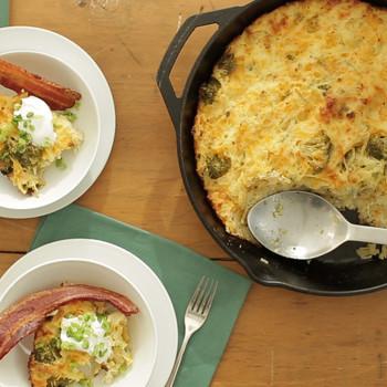 Cheesy Broccoli and Potato Casserole