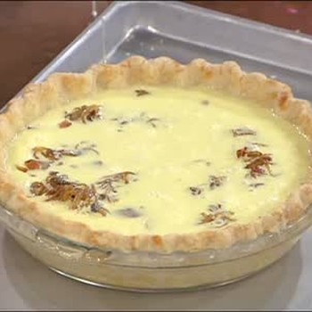 Emeril's Caramelized Onion, Mushroom and Bacon Quiche, Part 1