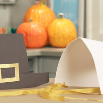 For the Kids' Table: Pilgrim Hats and Bonnets