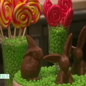 Jelly Belly and Chocolate Bunny Centerpiece