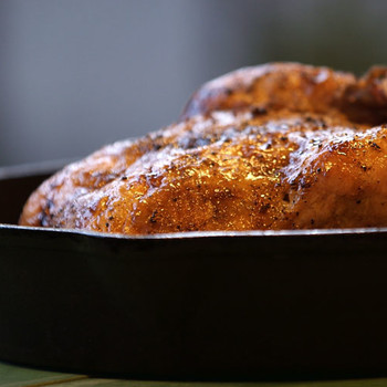 Quick and Easy Garlic Stuffed Roast Chicken