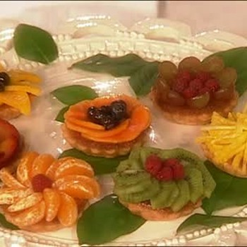 Tartlets Decorated with a Variety of Fruits
