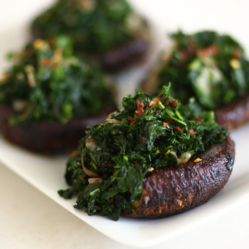 Roasted Portobellos with Kale Video