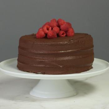 Dairy-Free Chocolate Raspberry Cake Video