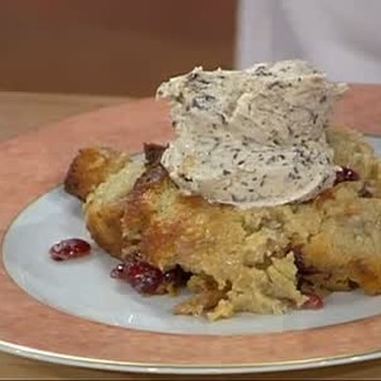 White Chocolate Bread Pudding with Ice Cream