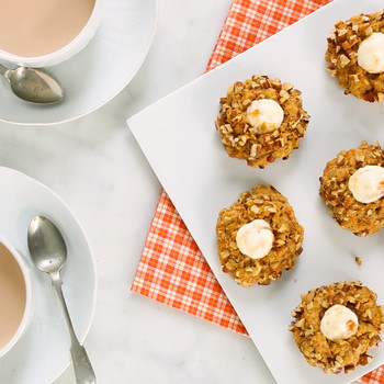 Carrot-Cake Thumbprint Cookies with Chopped Pecans