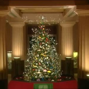 Christmas Trees in NYC with Origami Ornaments