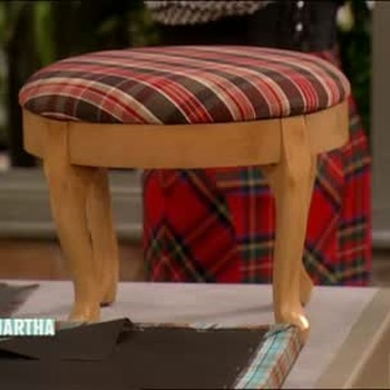 Cover a Footstool with Designer Jeffrey Banks