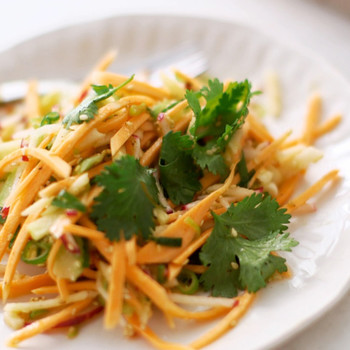 Crunchy Sweet Potato and Apple Julienne Salad