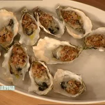 Oysters with Chanterelles and Parmesan Cheese