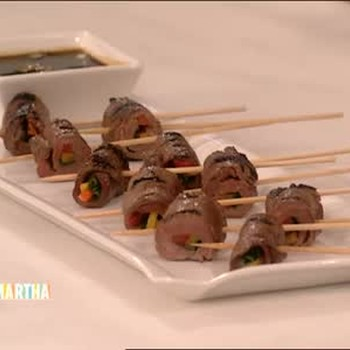 Skewered Beef Meatballs and Summer Appetizers