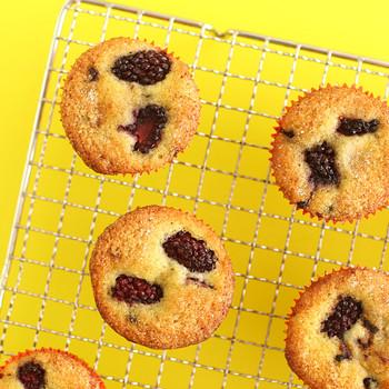 Gluten-Free Blackberry Muffins