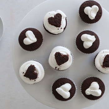 Chocolate Cupcakes with Milk Frosting Video