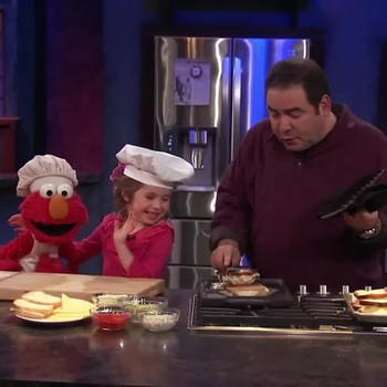 Emeril and Elmo Make Grilled Cheese Sandwiches