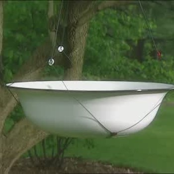 How to Make a Bird Bath with Twine and Buttons
