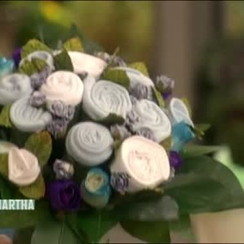How to Make Baby Bunch Flowers from Baby Items