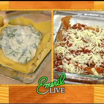 Light and Healthy Lasagna with Turkey and Crab
