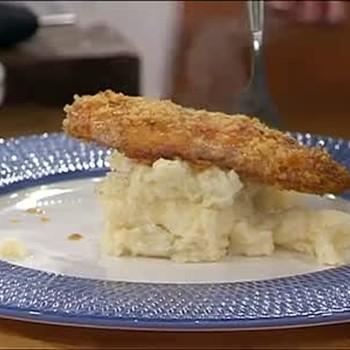 Potato Chip Chicken and Garlic Mashed Potatoes