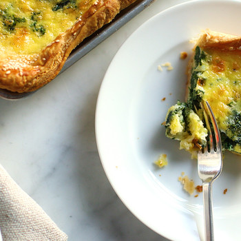 Spinach-and-Cheddar Slab Quiche Video