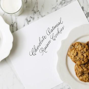 Chocolate-Oatmeal Raisin Cookies