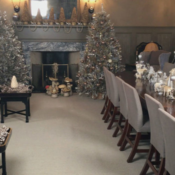 A Tour of Martha's Holiday Decorated Living Room