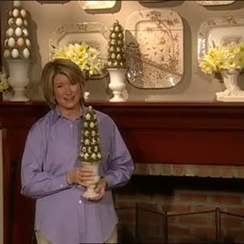Martha Stewart Crafts an Egg Topiary for Easter