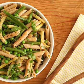Summer Pasta Salad with Peas & Beans