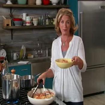 Quick Spaghetti Amatriciana with Pecorino Romano