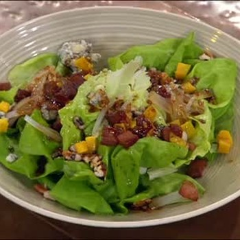Boston Bibb Salad with Bacon Vinaigrette Dressing