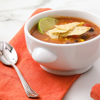 Tortilla Soup with Black Beans Video EH