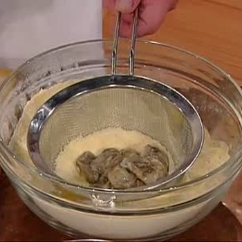 Emeril's Fried Oyster Salad with Pernod Buttermilk Dressing, Part 1