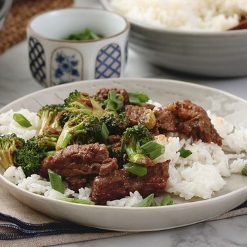 Watch: Beef and Black Broccoli with Black-Bean Garlic Sauce
