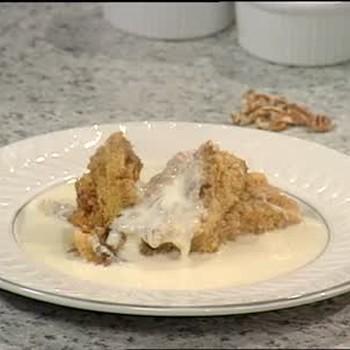 Sweet Potato Pecan Bread Pudding and Whiskey Sauce