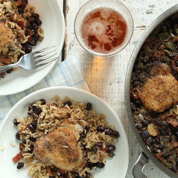 One-Pan Chicken with Rice and Beans