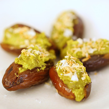 Pistachio-Stuffed Dates with Coconut Video