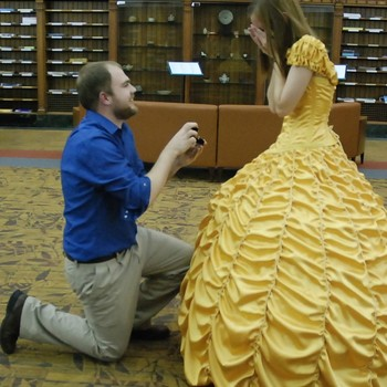 Meet the DIY Man of Our Dreams Who Sewed This Ball Gown (And Then Proposed)