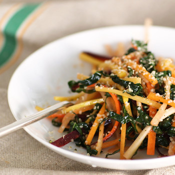 Julienned-Carrot and Kale Salad Video