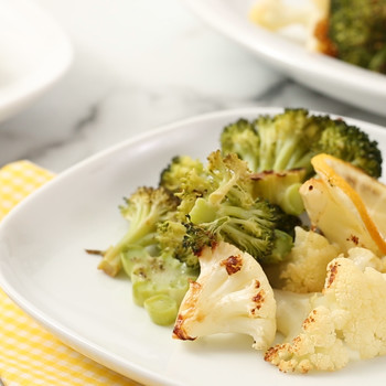 Roasted Broccoli and Cauliflower with Lemon and Garlic Video