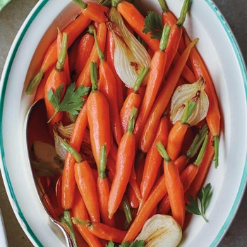 Baby Carrots with Spring Onions