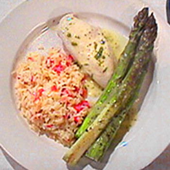 Chicken with Rice and Asparagus