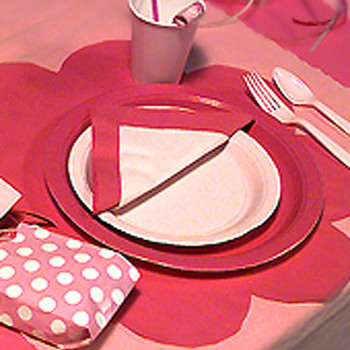Kids Birthday Party Idea: Barbie Party Table Setting
