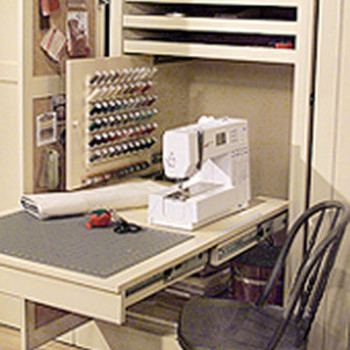 Sewing Room in a Closet